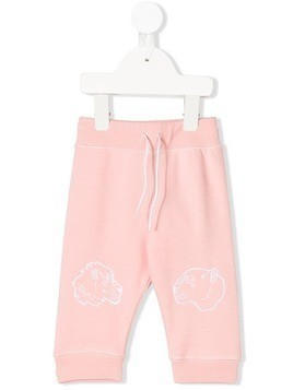 Kenzo Kids lion embroidered track pants - Pink & Purple
