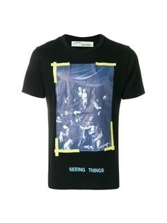 Off-White caravaggio print T-shirt - Black