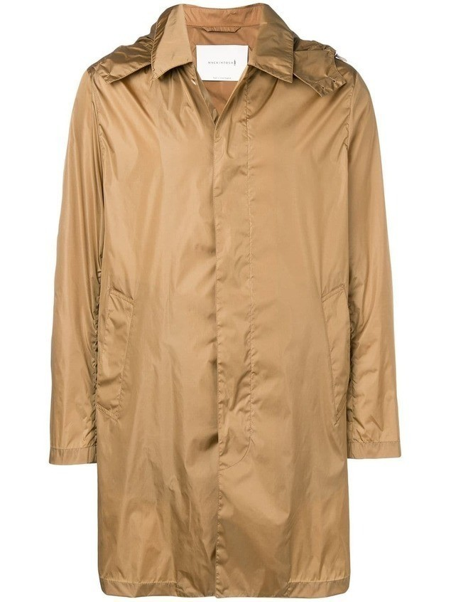 Mackintosh GM-043B hooded raincoat - NEUTRALS