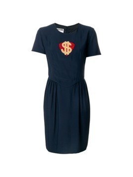 Moschino Vintage Heart Dollar dress - Blue