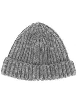 Zanone ribbed beanie - Grey