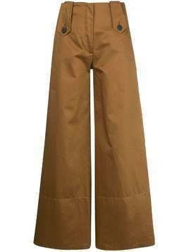 Delada wide leg high-waisted trousers - Brown
