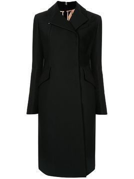 Nº21 slim-fit zipped back coat - Black