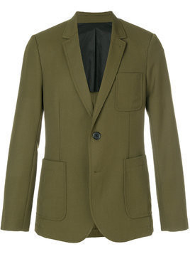 Ami Alexandre Mattiussi half-lined two buttons jacket - Green