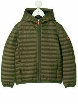 Save The Duck Kids padded hooded jacket - Green