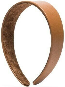 Jennifer Behr Cruz leather headband - Brown