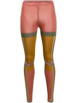 Missoni panelled knitted-style tights - PINK