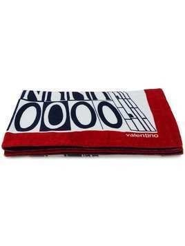 Valentino printed beach towel - Red