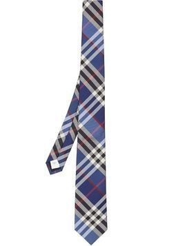 Burberry check silk jacquard tie - Blue