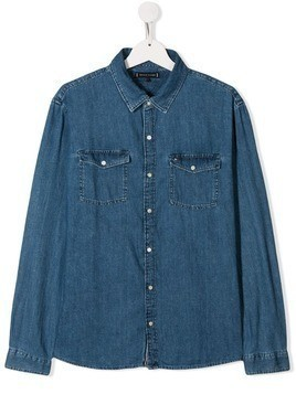 Tommy Hilfiger Junior TEEN rigid denim shirt - Blue