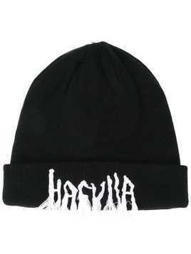 Haculla embroidered logo beanie - Black