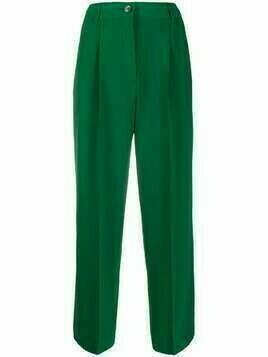 See by Chloé high-waisted pleated trousers - Green