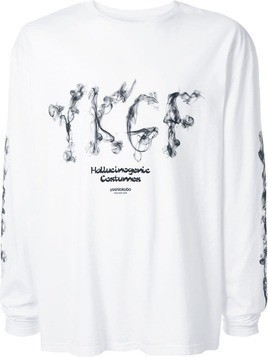 Yoshiokubo kemuri long sleeve T-shirt - White