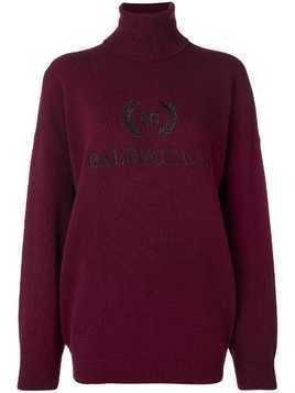 Balenciaga embroidered logo jumper