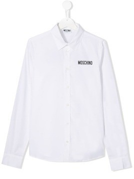 Moschino Kids TEEN logo shirt - White