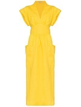 Three Graces Clarissa belted wrap dress - Yellow