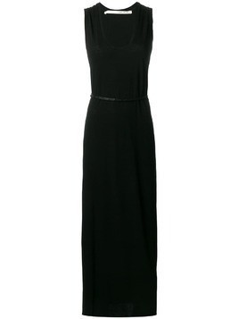 Isabel Benenato belted waist dress - Black