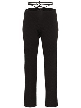 Miaou Rei strap detail trousers - Black