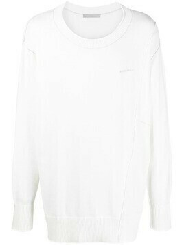A-COLD-WALL* raised-seam jumper - White