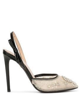Giambattista Valli crystal-embellished pumps - NEUTRALS