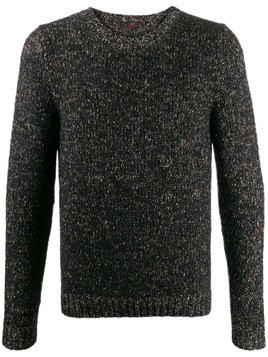 MP Massimo Piombo crew-neck knit jumper - Black