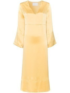 Asceno silk midi dress - Yellow