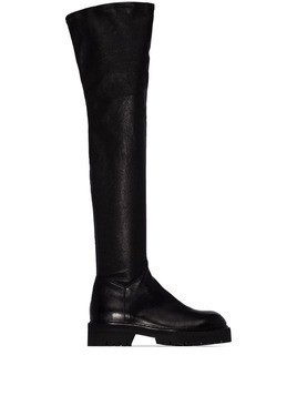 Ann Demeulemeester over-the-knee boots - Black