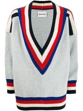 Henrik Vibskov striped trim jumper - Blue