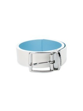 Armani Junior classic buckle belt - White