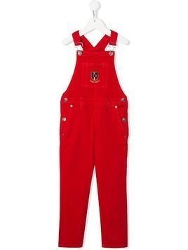 Tommy Hilfiger Junior Monogram Shield Stretch dungarees - Red
