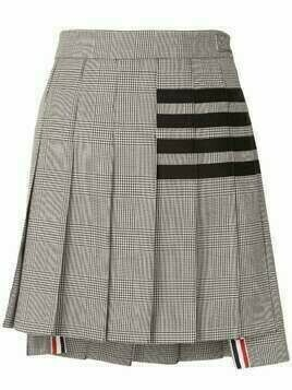 Thom Browne dropped back 4-Bar pleated mini skirt - Black