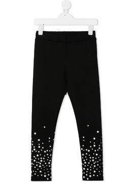 Moncler Kids star patch fitted trousers - Black