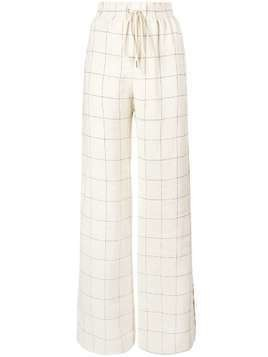 Zimmermann windowpane print wide-leg trousers - Nude & Neutrals