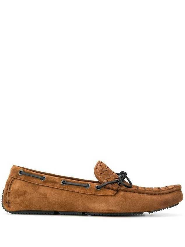 Bottega Veneta classic intrecciato loafers - Brown