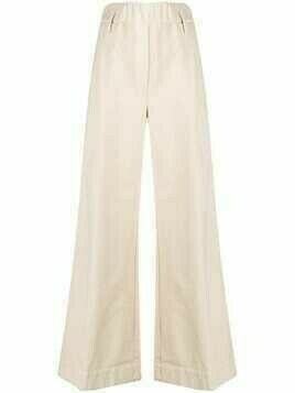 Forte Forte 2010s flared pre-owned trousers - Neutrals