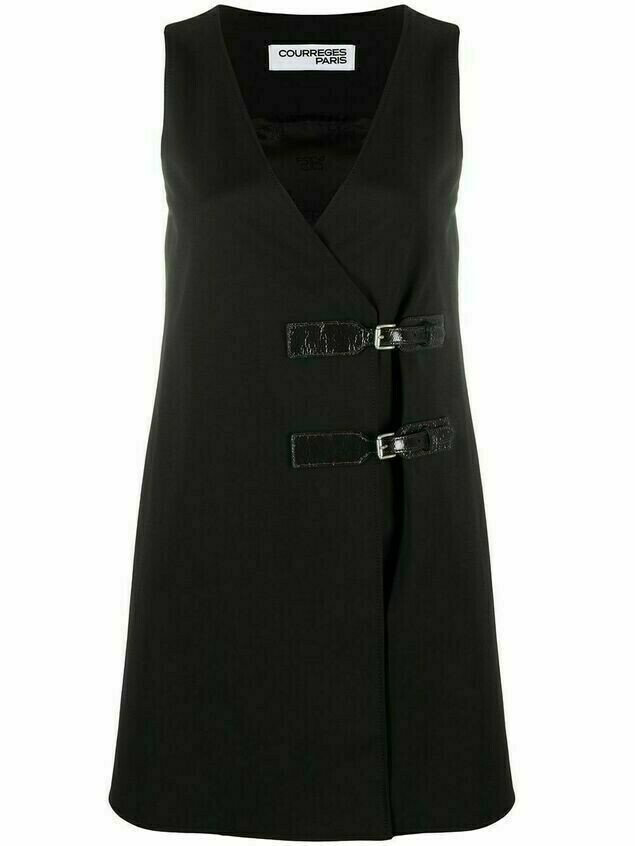 Courrèges buckle-detail dress - Black