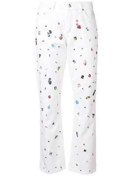 Escada crystal-embellished jeans - White
