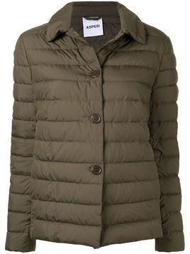 Aspesi padded button jacket - Green