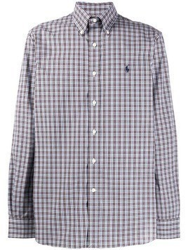 Polo Ralph Lauren plaid print shirt - Brown