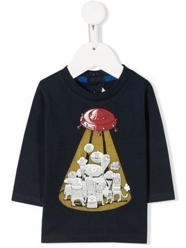 Little Marc Jacobs printed aliens T-shirt - Blue