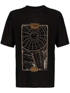 Prada Gallery Print T-shirt - Black