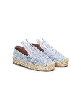 Minna Parikka Kids Bunny fur print sneakers - Grey