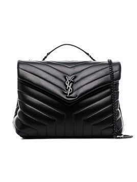 Saint Laurent Black LouLou Leather Quilted Shoulder Bag