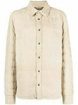 Brunello Cucinelli padded suede down jacket - Neutrals