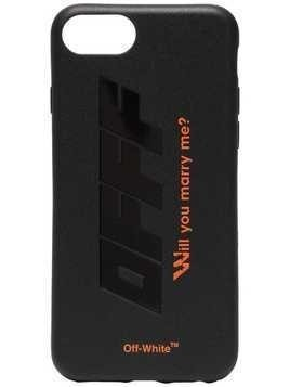 Off-White Black and Orange Quote Print iPhone X PVC Phone Case