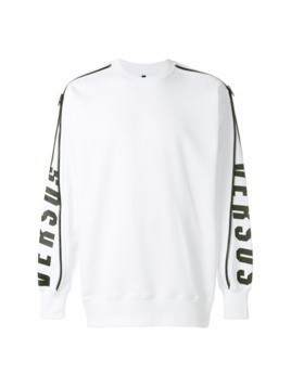 Versus side zip detail sweatshirt - White
