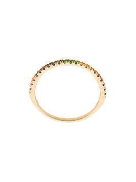 Khai Khai Rainbow Stack band ring - Metallic