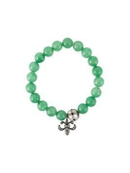 Gemco bead diamond charm bracelet - Green