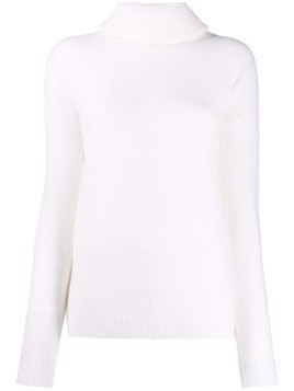 Maison Ullens roll-neck fitted sweater - White