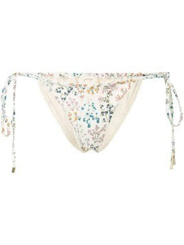 Peony string wild flowers bikini bottoms - Neutrals